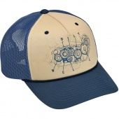 Кепка Biltwell Inc. - 4 CAM SNAP BACK - BLUE/BEIGE - светло-коричневая - 8002-1008-00 8002-1008-00 Biltwell Inc.